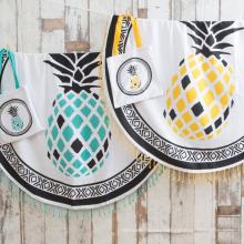pineapple pattern customized print wholesale popular Round Beach Towel RBT-177