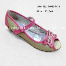 Popular Niños Peep-dedo del pie único zapatos planos Zapatos de Danza (FF0808-33)