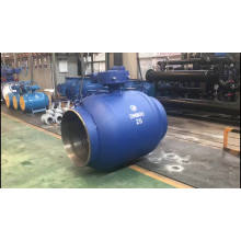 fully welded 3 way flanged ball valve