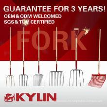 Herramientas de agricultura Durable Garden Four Prong Digging Metal Hay Fork?