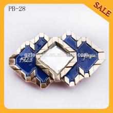 PB28 Forme la hebilla de encargo de encargo del corchete del vaquero occidental de la aleación del cinc del metal