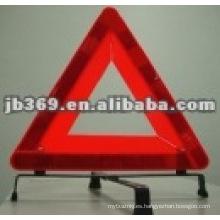 Señal de tráfico amonestadora roja alta del coche del triángulo reflexivo