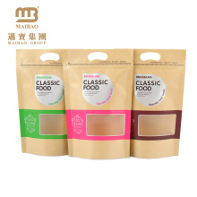 Factory High Quality Stand Up Snack Aluminum Foil Kraft Paper Ziplock Bag With Window