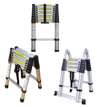 3.2m  Folding Aluminum step Telescopic Ladder with 150 kgs load capacity