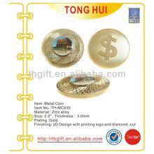 Мемориальная монета из высококачественной резьбы по металлу, сувенирная монета