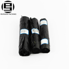 Biohazard recycle black color waste garbage bag on roll