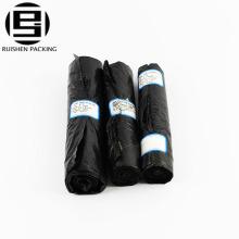Biohazard recycle black color waste garbage bag on roll