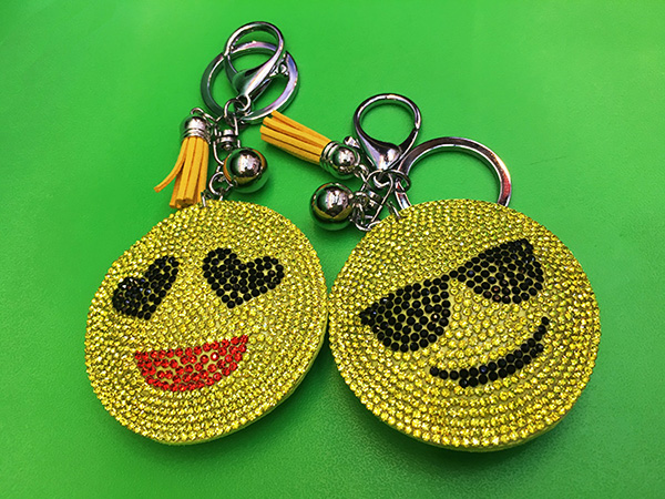 Smiley Faces Pendant Keychain