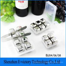 Кубики льда камень нержавеющая сталь вино виски 4шт/набор
