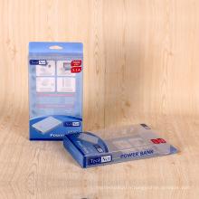 Boîte en plastique adaptée aux besoins du client d'emballage en plastique clair boîte de PVC