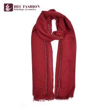 HEC OEM Factory China Preis lange einfache Farbe Polyester Frauen Schal