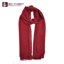 HEC OEM Factory China Price Long Plain Color Polyester Women Scarf