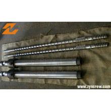 Zyb503 recicló el barril bimetálico del tornillo del HDPE LDPE del PE