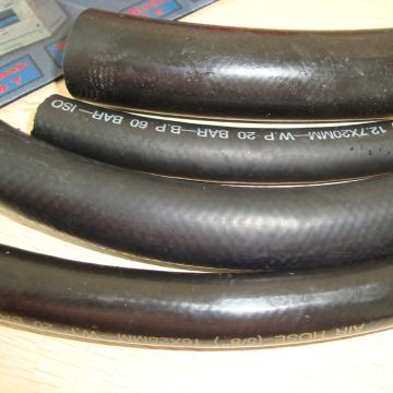 garantia de comércio quente de vendas flexível mangueira de borracha hidráulica trança para ar / água