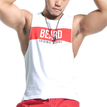 Kustom mens binaraga latihan tank top rompi