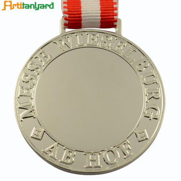 Custom Blank Zinc Alloy Metal Production Award Medal