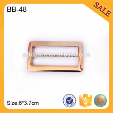 BB48 Shiny alloy high quality metal groove buckle for garment