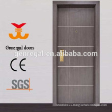 Decorative Aluminum Lines melamine wooden doors