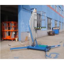 Échelle de levage hydraulique en aluminium à escalade de mât Engrenage de travail élévateur en aluminium