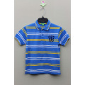 BOY'S 100% COTTON YARN DYED POLO WITH PRINT