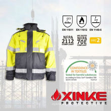 Flame Retardant Jacket with Reflective Tape for safety