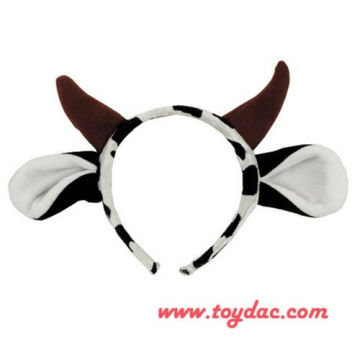 plush milk cow hairpin