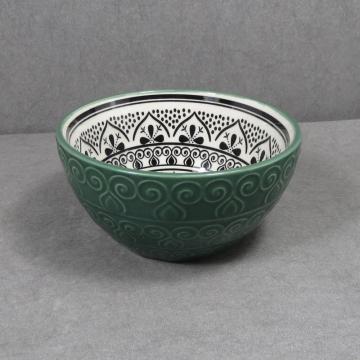 Тисненая керамическая миска