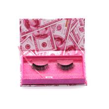 618T Hitomi eyelash packaging box custom logo Wholesale  Siberian Mink Lash paper eyelash packaging 3d real mink eyelash