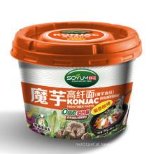 Macarrão instantâneo do copo de Shirataki da baixa caloria para a dieta