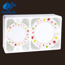 Jogo de jantar de centrifugação produtos vidreiros-24PCS Opal resistente ao calor