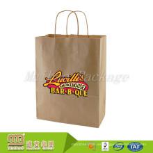 Los ultramarinos de Brown Kraft por encargo de la fábrica de China que hacen compras de la compra llevan la bolsa de papel del supermercado
