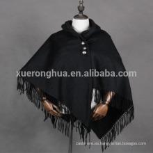 poncho de cachemira mujer con capucha