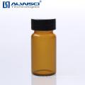Flacon de verre de stockage ambré par chromatographie liquide à gaz 20 ml