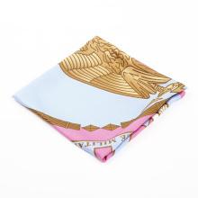 China impressão de fábrica por atacado de impressão lenço de seda de fabricação