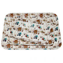 100% Melamin Frankreich Bear Series Kinder Housewar / Melamin Tablett