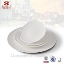 Royal dinner set, White ceramic plate, porcelain tableware china supplier