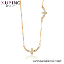 44520 xuping 18k gold color wholesale fashion religion cross necklace