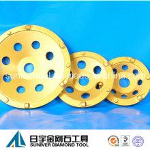 """4""""-7"""" Copa de diamante PCD muela para la eliminación de la capa del diamante"""