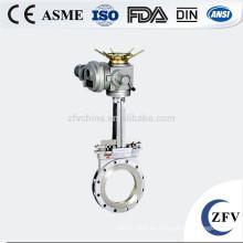 DN50 potencia accionado por válvula de la mezcla en forma de cuchillo