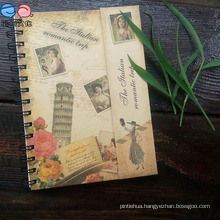 Recycled Magnetic Euramerican Style Kraftpaper Cover Spiral Notebook