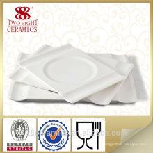 Vente chaude blanc 12.25 pouce plat de service de porcelaine, poland porcelaine ensemble de dîner