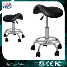 Hidráulica Adjustable Salon Swivel Rolling Stool Facial tatuagem PVC Couro Preto, Wholesales Novo Tattoo Stool