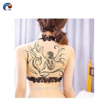Le corps CMYK provisoire de dos de corps sexy adaptent l'autocollant de tatouage, tatouage non-toxique