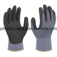 Luva de nylon com espuma superfino nitrilo mergulhando (N1567)