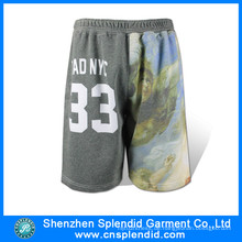 Großhandel Mens Sublimation Basketball Gym Fleece Shorts