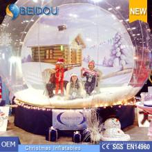 Hotsale Foto de Navidad Snow Globe Humano Giant Inflatable Snow Dome
