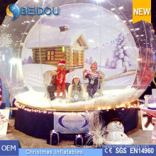 Hotsale Christmas Photo Human Snow Globe Giant Inflatable Snow Dome