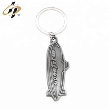 Antique silver custom sports logo key rings with own design