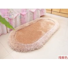 Long Pile Silk Plain Polyester Shaggy Carpet and Rug