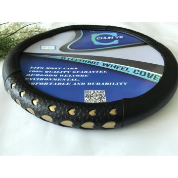 Cadillac love design leather steering wheel cover